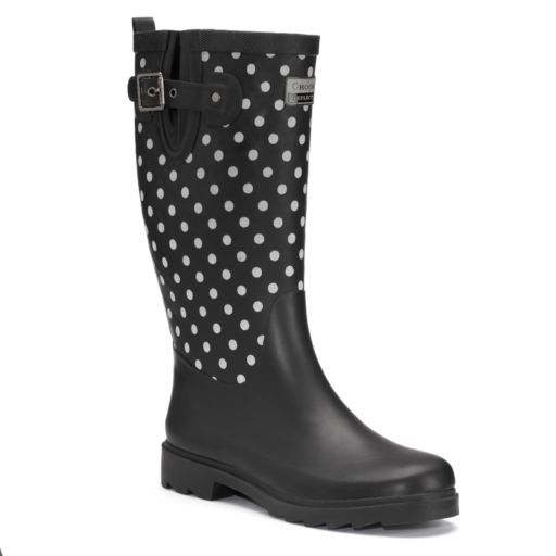 Chooka Flash Dot Women's Tall Reflective Waterproof Rain Boots