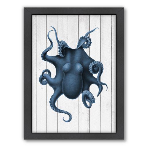 Americanflat Wood Curiosity Octopus Framed Wall Art