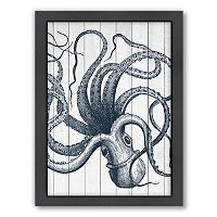 Americanflat Wood Octopus Framed Wall Art