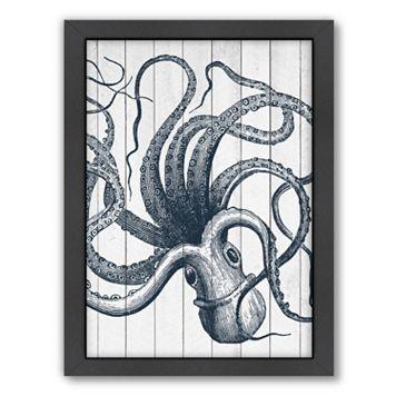 Americanflat Wood Octopus Framed Wall Art