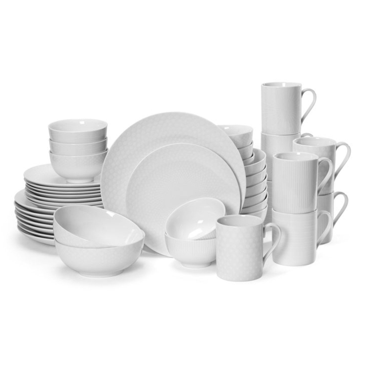 sc 1 st  Kohlu0027s & Mikasa Cheers White 40-pc. Dinnerware Set