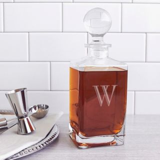 Cathy's Concepts 32-oz. Monogram Square Whiskey Decanter