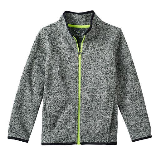 Boys 4-10 Jumping Beans® Sweater Fleece Zip Jacket