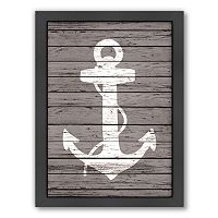 Americanflat Wood Quad Anchor Framed Wall Art