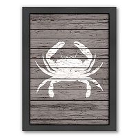 Americanflat Wood Quad Crab Framed Wall Art