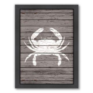 Americanflat Wood Quad Crab Framed Wall Art