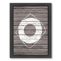 Americanflat Wood Quad Lifesaver Framed Wall Art