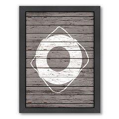Americanflat Wood Quad Lifesaver Framed Wall Art