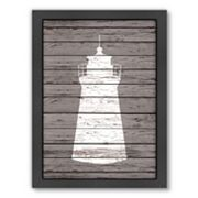 Americanflat Wood Quad Lighthouse Framed Wall Art