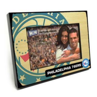 """Philadelphia 76ers 4"""" x 6"""" Wooden Frame"""