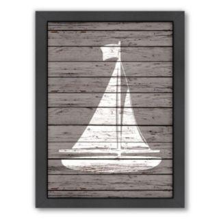 Americanflat Wood Quad Sailboat Framed Wall Art