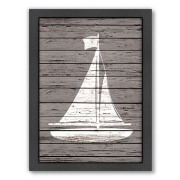 Americanflat Wood Quad Sailboat Framed Wall Art