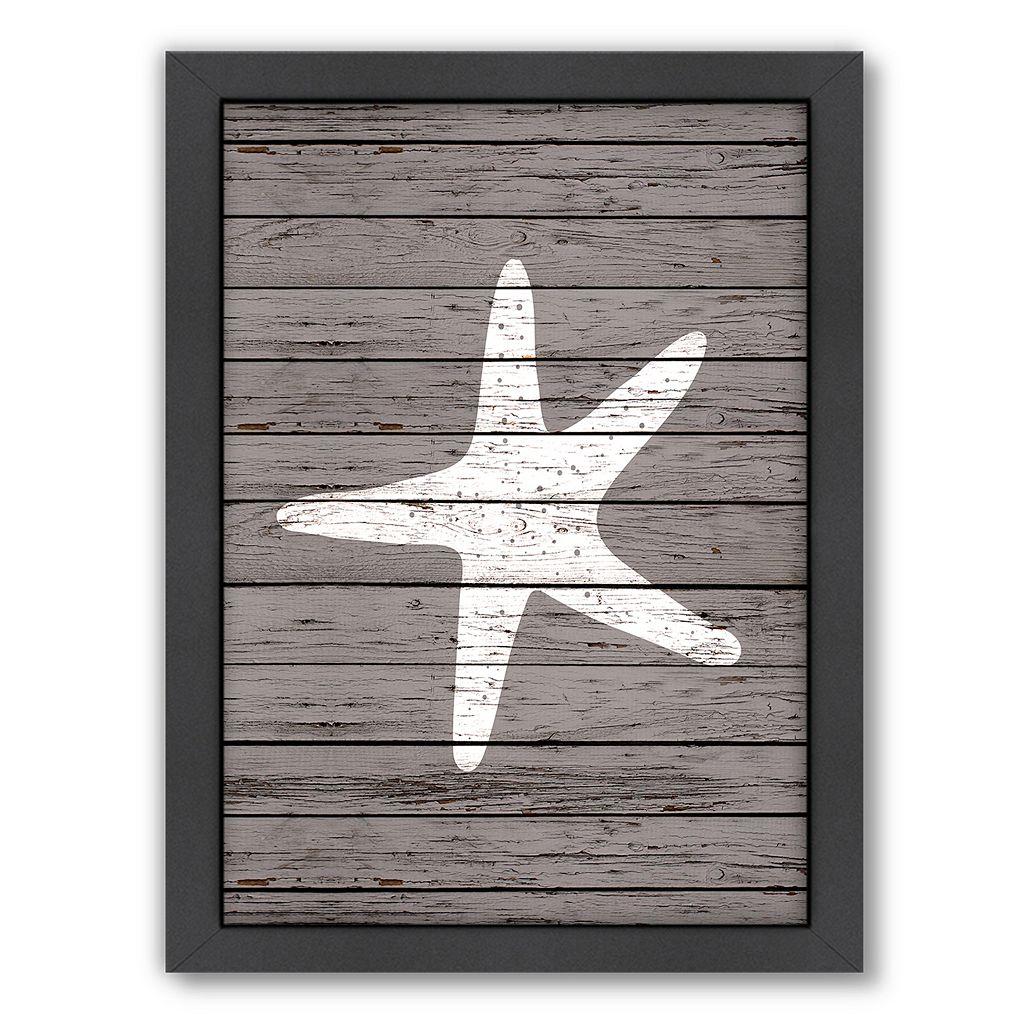 Americanflat Wood Quad Starfish Framed Wall Art