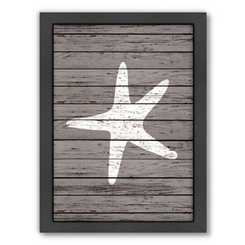 Americanflat Wood Quad Starfish Framed Wall Art