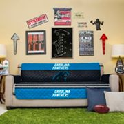 Carolina Panthers Quilted Sofa Cover