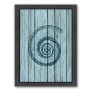 Americanflat Wood Shell 1 Framed Wall Art