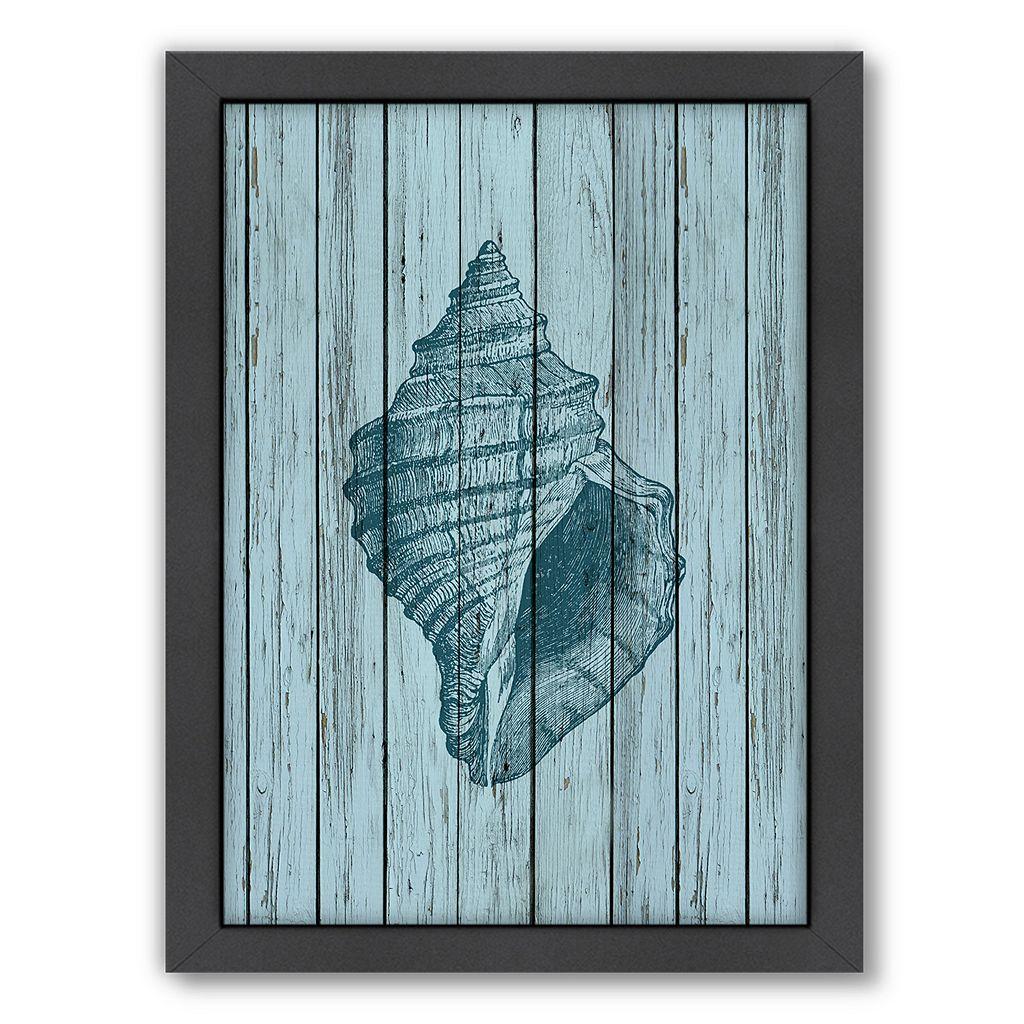 Americanflat Wood Shell 2 Framed Wall Art