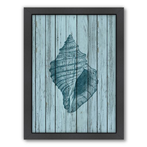 Americanflat Wood Shell 2 Framed Wall Art