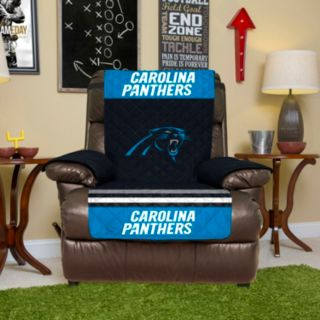 Carolina Panthers Quilted Recliner Chair Cover