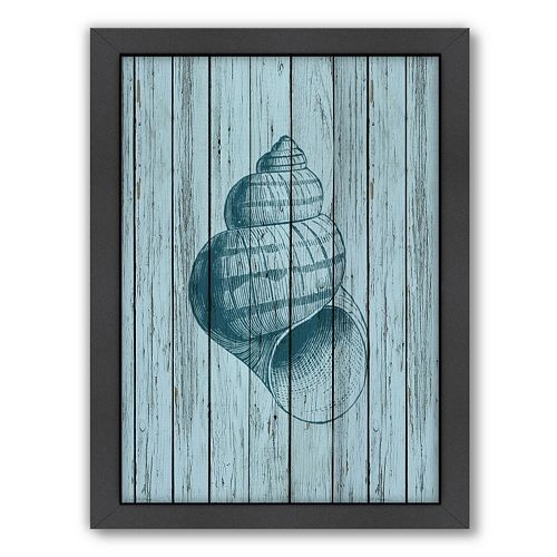 Americanflat Wood Shell 3 Framed Wall Art