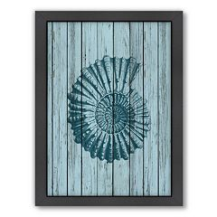 Americanflat Wood Shell 4 Framed Wall Art
