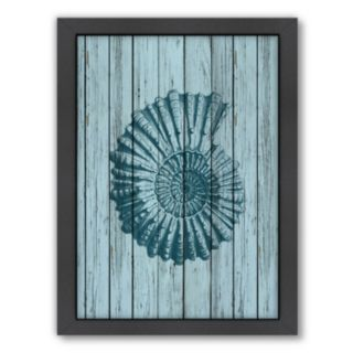 Americanflat Wood Shell 4 Framed Wall Art