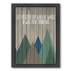 Americanflat Wood Move Mountains Framed Wall Art