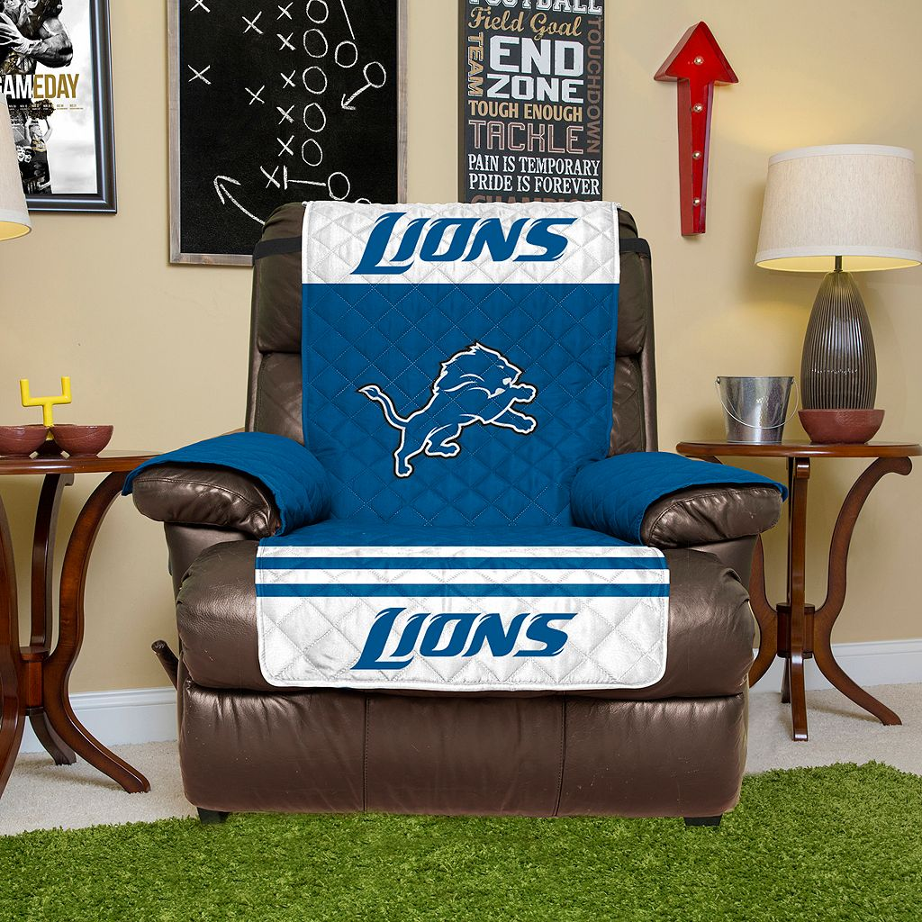 Detroit Lions Quilted Recliner Chair Cover