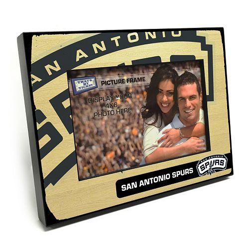 "San Antonio Spurs 4"" x 6"" Wooden Frame"