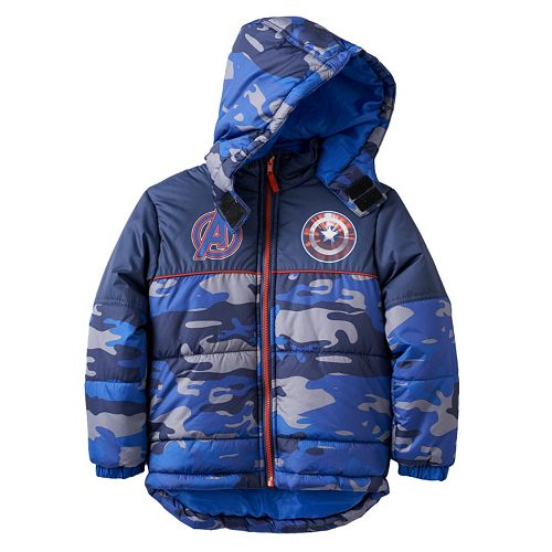 224e7cbef181 Boys 4-7 Marvel Avengers Captain America Camouflage Midweight Hooded ...