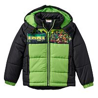 Boys 4-7 Teenage Mutant Ninja Turtles Hooded Puffer Jacket