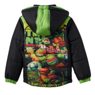 Boys 4-7 Teenage Mutant Ninja Turtles Hooded Puffer Jacket
