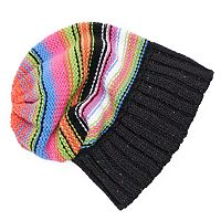 MUK LUKS Women's Striped Slouchy Beanie