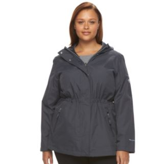 Plus Size Free Country Hooded Reversible Anorak Jacket