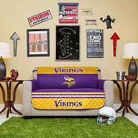 Minnesota Vikings Quilted Loveseat Cover