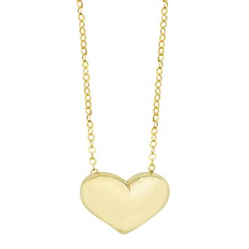 10k Gold Heart Necklace