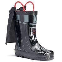 Western Chief Star Wars Darth Vader Boys' Waterproof Rain Boots