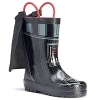 Western Chief Star Wars Darth Vader Toddler Boys' Waterproof Rain Boots