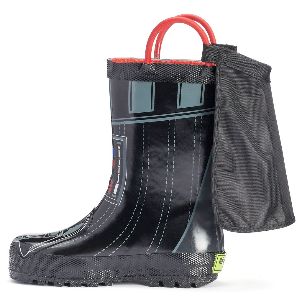 Western Chief Star Wars Darth Vader Toddler Boys' Waterproof Rain Boots