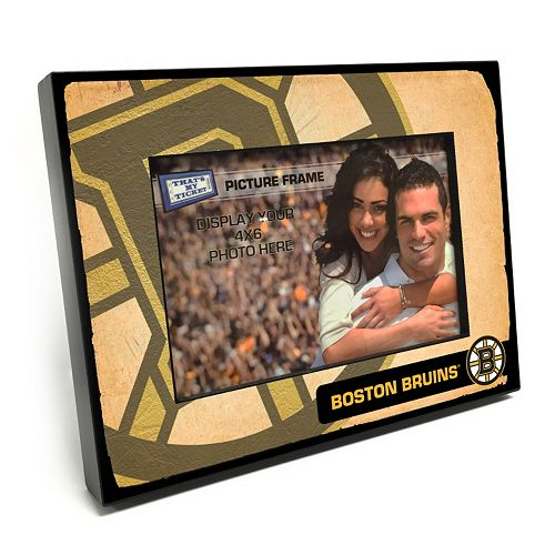 "Boston Bruins Vintage 4"" x 6"" Wooden Frame"
