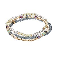 LC Lauren Conrad Beaded Stretch Bracelet Set