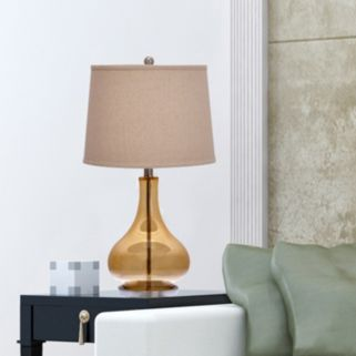 Catalina Amber Gourd Table Lamp
