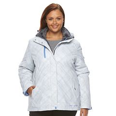 Plus Size Free Country Faux-Fur 3 in 1 Systems Jacket