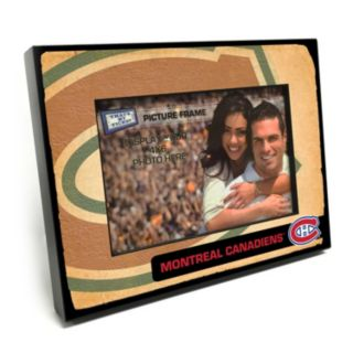 """Montreal Canadiens Vintage 4"""" x 6"""" Wooden Frame"""