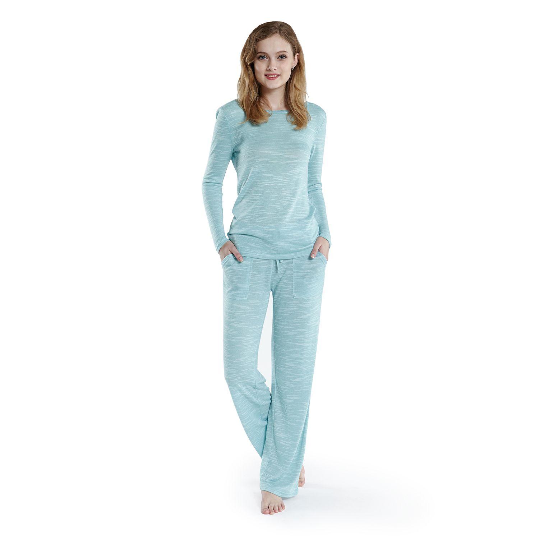 Womens INK+IVY Pajamas: Fancy Slubbed PJ Set