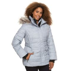 Plus Size Free Country Hooded Puffer Down Jacket