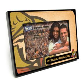 """Ottawa Senators Vintage 4"""" x 6"""" Wooden Frame"""