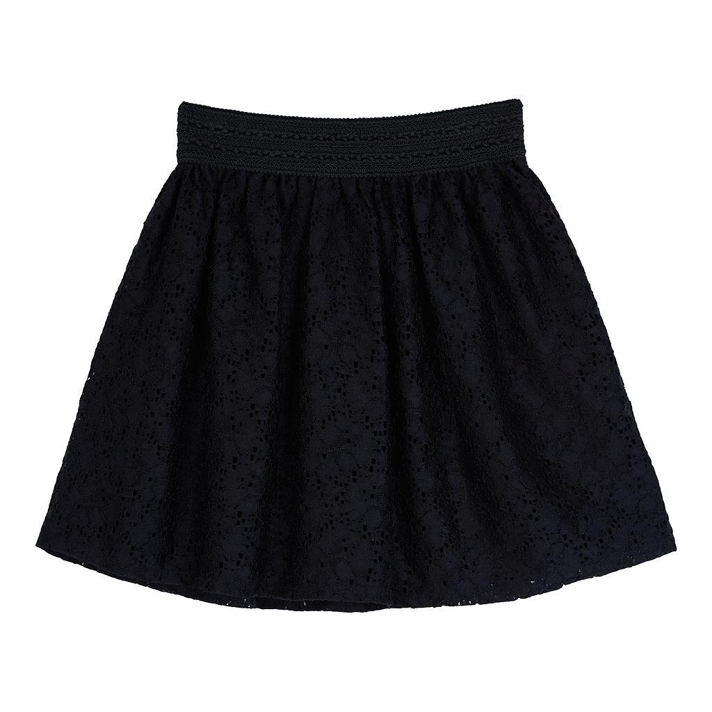 Girls 7-16 IZ Amy Byer Lace Skater Skirt
