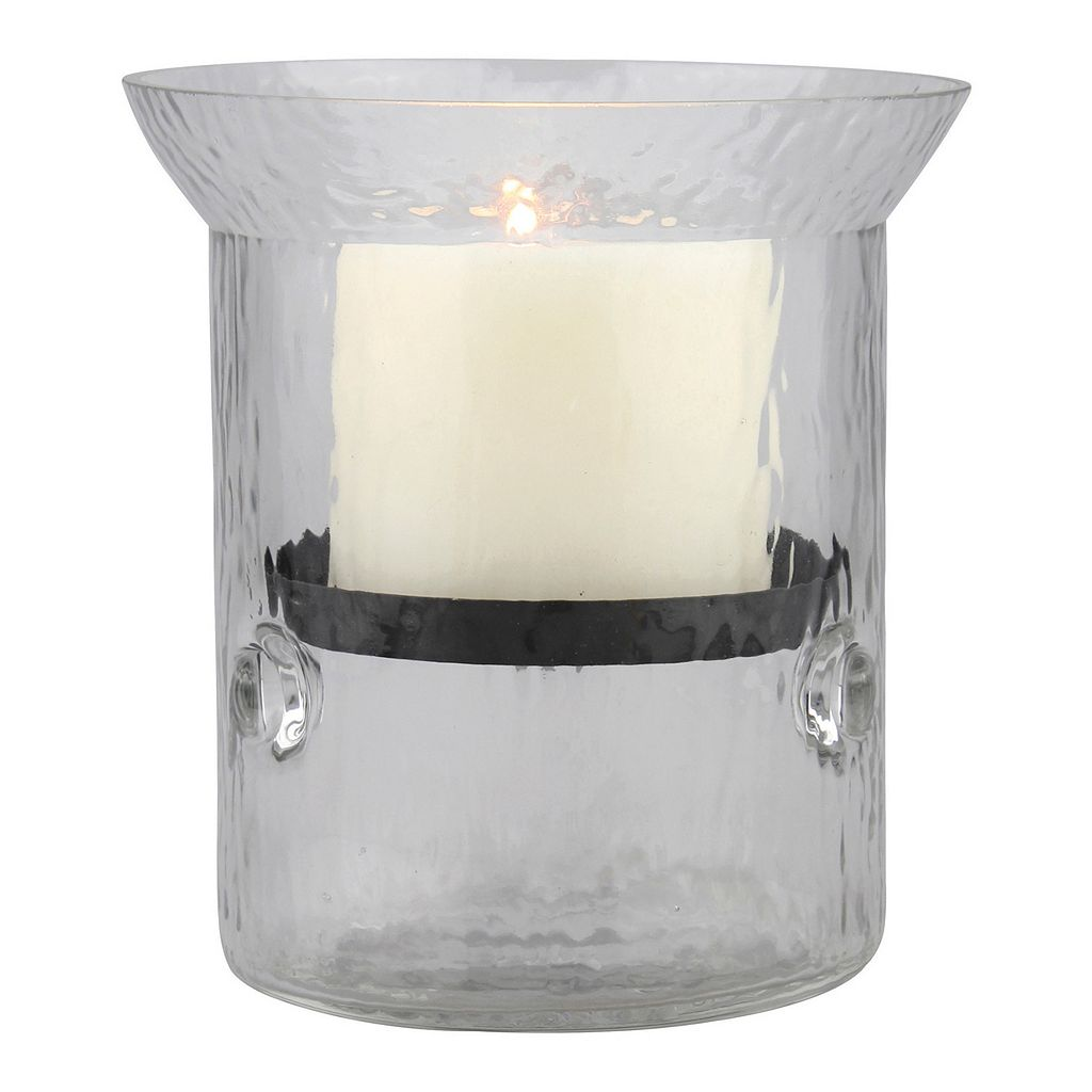 Manor Lane Small Glass Hurricane Candle