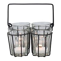 Manor Lane Cut Glass Wire Tealight Holder 5-piece Set